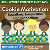 BUNDLE - Performance Task – Equations, Proportions – Cookie Motivation