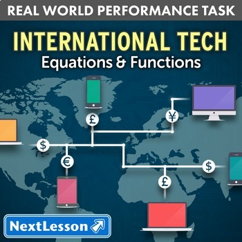 Bundle G9-12 Equations and Functions - International Tech Performance Task