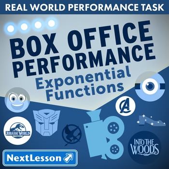 BUNDLE - Performance Task – Exponential Functions – Box Of