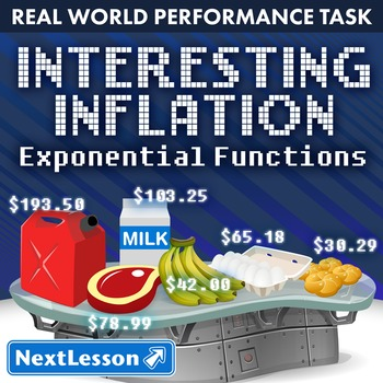 BUNDLE - Performance Task – Exponential Functions – Interesting Inflation