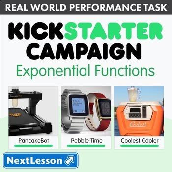 Bundle G9-12 Exponential Functions - Kickstarter Campaign Performance Task