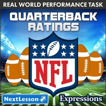BUNDLE- Performance Task – Expressions – Quarterback Ratings