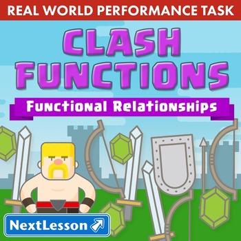 BUNDLE - Performance Task – Functional Relationships – Clash Functions