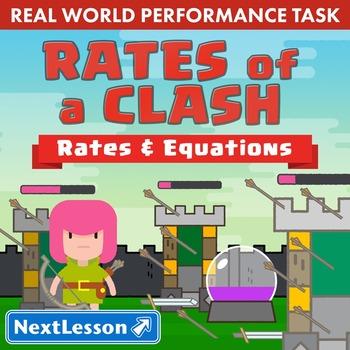 BUNDLE - Performance Task – Functional Relationships – Rates of Clash