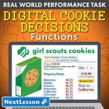 BUNDLE - Performance Task – Functions – Digital Cookie Decisions
