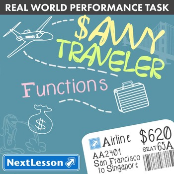 BUNDLE - Performance Task – Functions – Savvy Travelers