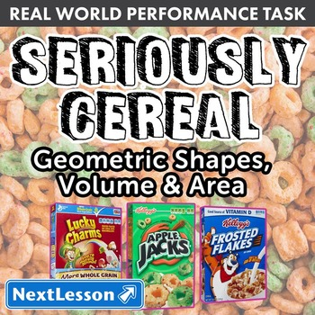 BUNDLE - Performance Task – Geometric Shapes, Volume & Area – Seriously Cereal