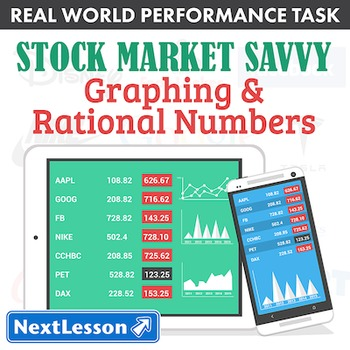 BUNDLE- Performance Task – Graphing & Rational Numbers – Stock Market Savvy