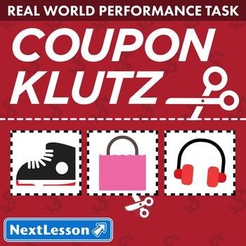 BUNDLE- Performance Task – Integers & Equations – Coupon Klutz