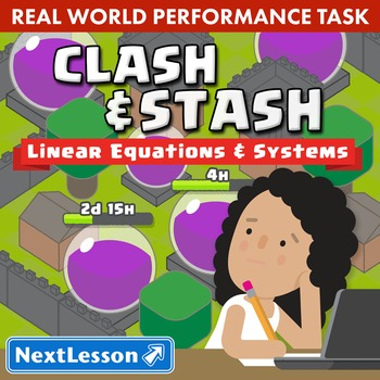 BUNDLE - Performance Task – Linear Equations and Systems – Clash and Stash