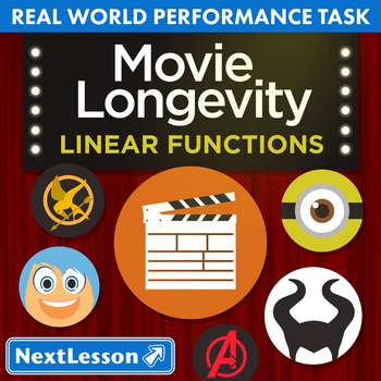 BUNDLE - Performance Task – Linear Functions – Movie Longevity