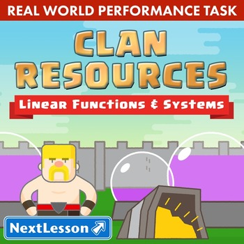 BUNDLE - Performance Task – Linear Functions & Systems – Clan Resources