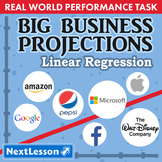 BUNDLE - Performance Task – Linear Regression – Big Business Projections