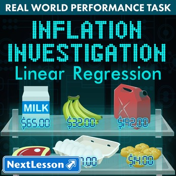 BUNDLE - Performance Task – Linear Regression – Inflation Investigation