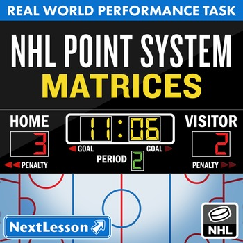 BUNDLE - Performance Task – Matrices – NHL Point System