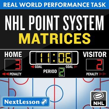 BUNDLE - Performance Task – Matrices – NHL Point System