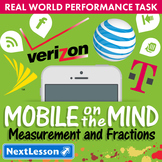 BUNDLE - Performance Task – Measurement and Fractions – Mobile on the Mind