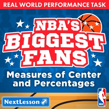 BUNDLE - Performance Task – Measures of Center, Percentages – NBA's Biggest Fans