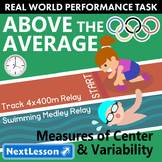 BUNDLE - Performance Task – Measures of Center & Variability – Above the Average