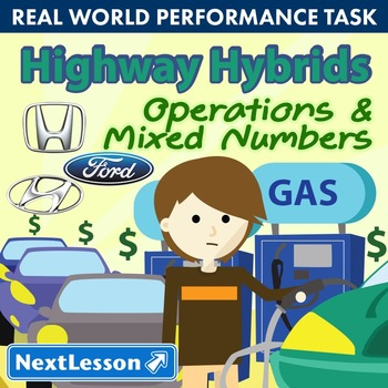 BUNDLE - Performance Task – Operations and Mixed Numbers – Highway Hybrids