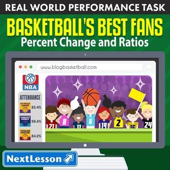 BUNDLE - Performance Task – Percent Change & Ratios – Bask