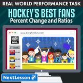 BUNDLE - Performance Task – Percent Change & Ratios – Hockey's Best Fans