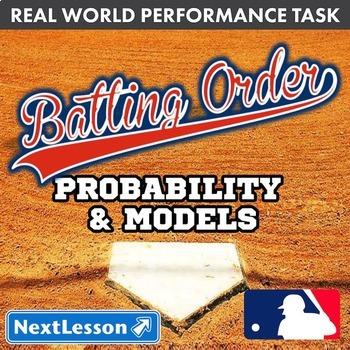 Bundle G7 Probability & Models - Batting Order Performance Task