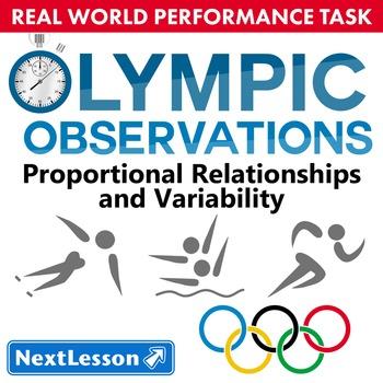 BUNDLE - Performance Task – Proportional Relationships – Olympic Observations