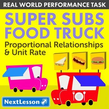 BUNDLE - Performance Task – Proportional Relationships – Super Subs Food Truck