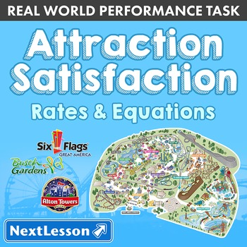 BUNDLE- Performance Task – Rates & Equations – Attraction Satisfaction