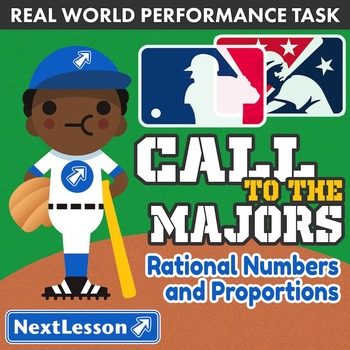 BUNDLE - Performance Task – Rational Numbers & Proportions – Call to the Majors