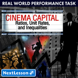 BUNDLE - Performance Task – Ratios Unit Rate and Equations – Cinema Capital