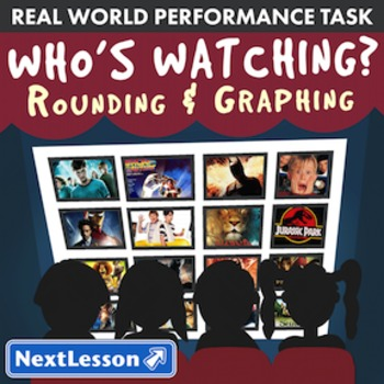 BUNDLE – Performance Task – Rounding & Graphing - Who's Watching - Movies