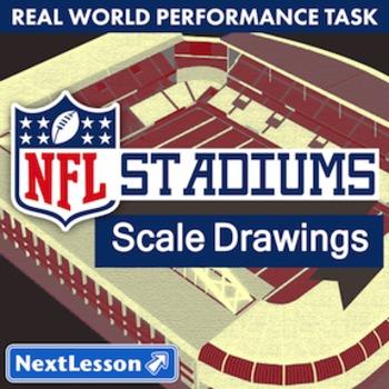 BUNDLE – Performance Task – Scale Drawings - NFL Stadiums - Football Teams