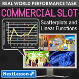 BUNDLE - Performance Task – Scatterplots & Linear Functions – Commercial Slot