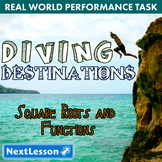 BUNDLE - Performance Task – Square Roots and Functions – Diving Destinations