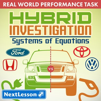BUNDLE - Performance Task – Systems of Equations – Hybrid Investigation