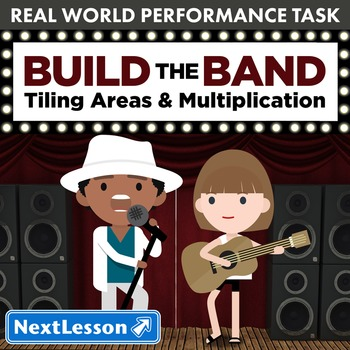 BUNDLE- Performance Task – Tiling Areas & Multiplication – Build the Band