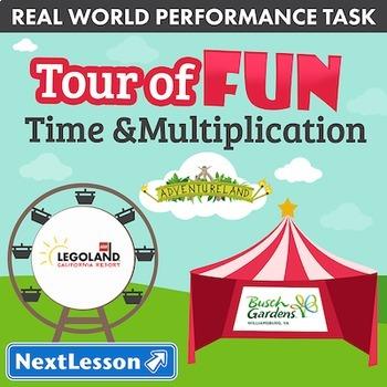 Bundle G4 Time & Multiplication - Tour of Fun Performance Task