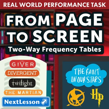 BUNDLE - Performance Task – Two-Way Frequency Tables – From Page to Screen