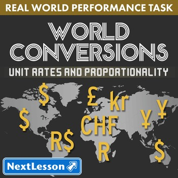 BUNDLE - Performance Task – Unit Rates & Proportionality – World Conversions