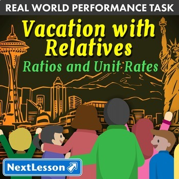 Bundle G6 Ratios and Unit Rates - Vacation with Relatives Performance Task