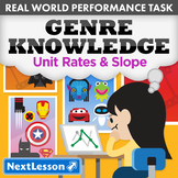 BUNDLE - Performance Task – Unit Rates & Slope – Genre Knowledge