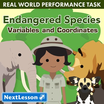 BUNDLE- Performance Task – Variables & Coordinates – Endangered Species
