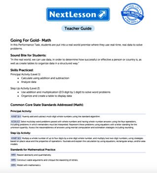G4 Addition & Multiplication - Going for Gold Performance Task