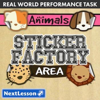 BUNDLE – Performance Tasks – Area – Sticker Factory Animals