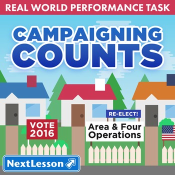 BUNDLE - Performance Tasks - Area and Four Operations - Campaigning Counts