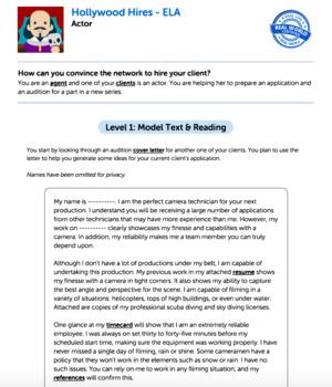 Bundle G7 Argument Reading & Writing - Hollywood Hires Performance Task