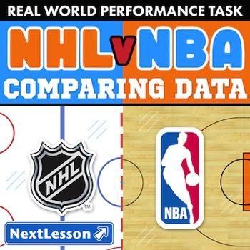BUNDLE – Performance Tasks – Comparing Data – NHL vs NBA