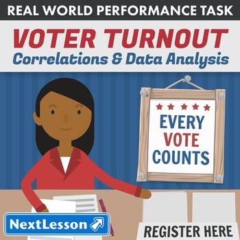 BUNDLE - Performance Tasks - Correlations & Data Analysis - Voter Turnout